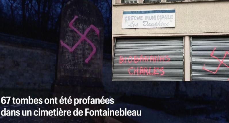 tombes profanées Fontainebleau