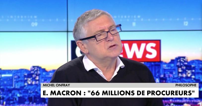 Michel Onfray sur Macron «Il y a un profond mépris… On ne peut pas gouverner la France quand on méprise les Français» (Vidéo)