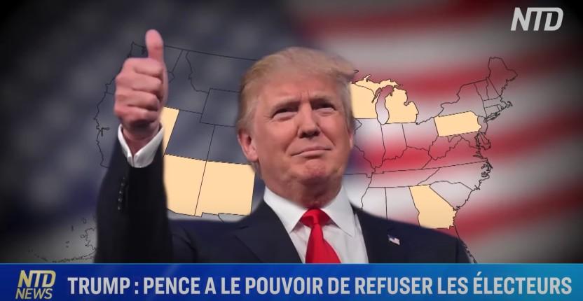 Elections US: Pence a le pouvoir de refuser; Les législateurs se positionnent; 423 000 votes pour Trump supprimés (Vidéo)