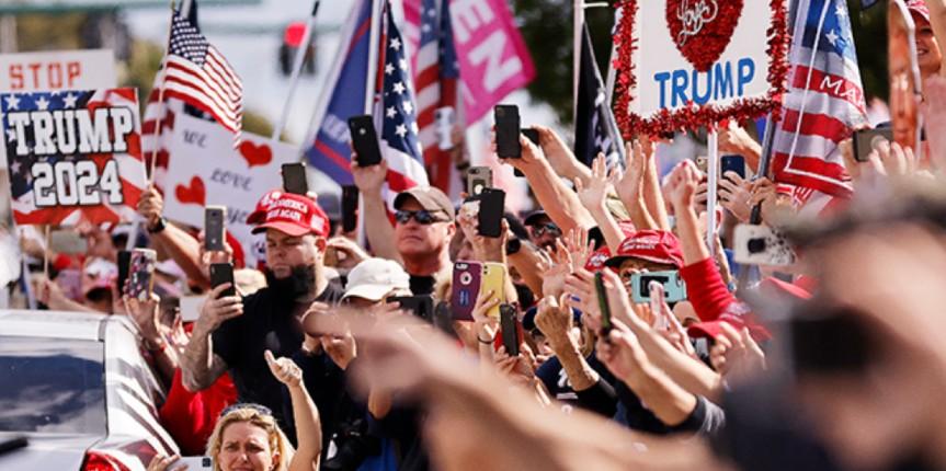 Trump accueillie par la foule