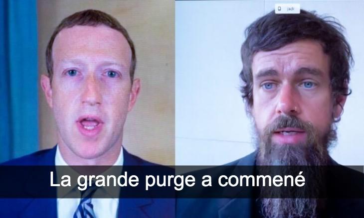 Twitter et Facebook purge