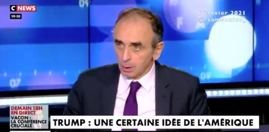 """Éric Zemmour : """"Ceux qui ont divisé l'Amérique ne sont pas les trumpistes mais les mouvements d'extrême-gauche. Le trumpisme, et le populisme, reste quand même le mouvement de l'avenir """" (Vidéo)"""