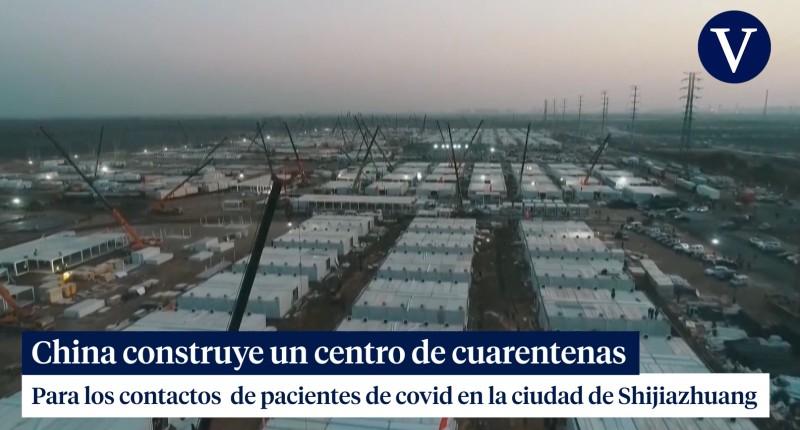 Covid-19 : la Chine construit un énorme camp pour isoler les «cas contacts» à 300 km de Pékin (Vidéo)