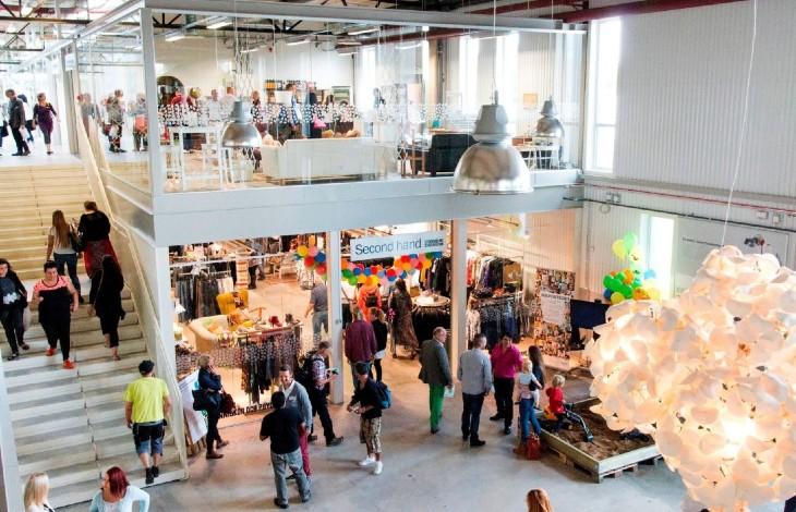 centre commercial Suède