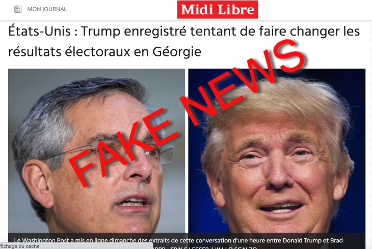 fake news trump tricheur