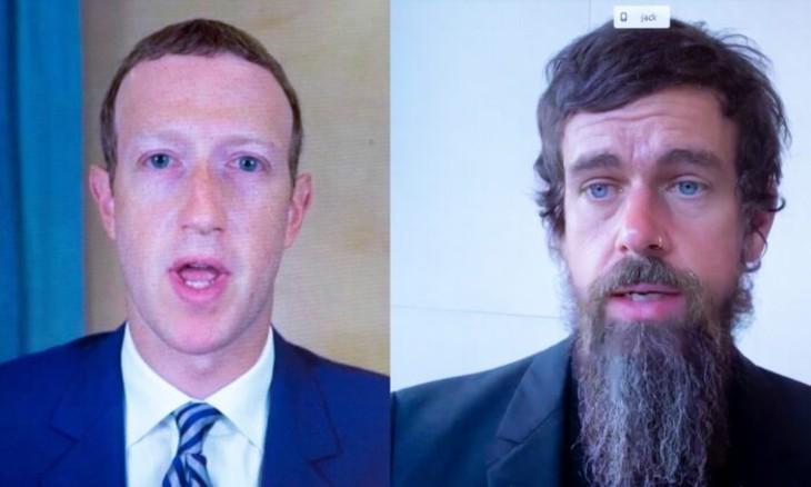 patrons Twitter et Facebook