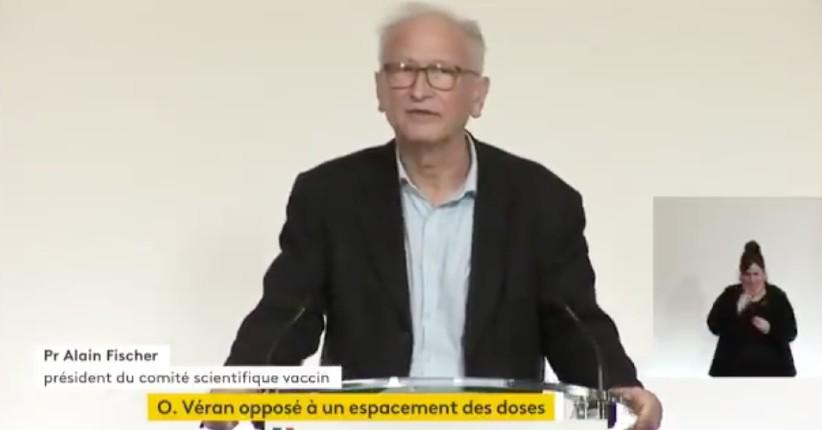 Covid: Le Pr Alain Fischer « Les données publiées en Israël montrent que la protection vaccinale entre 2 doses serait de seulement 33% au lieu des 50% annoncés par Pfizer et Moderna » (Vidéo)