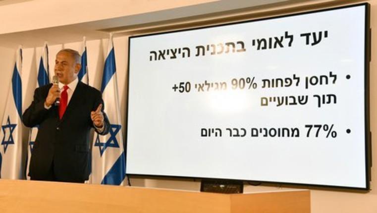 Israël: Netanyahu «L'objectif national est vacciner plus de 90% des personnes âgées de 50 ans et plus dans les deux semaines pour sortir de l'épidémie»