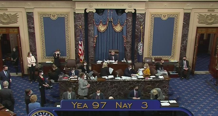 Le Sénat vote presqu'à l'unanimité pour que l'ambassade américaine reste à Jérusalem. Un sénateur républicain exhorte Biden à le confirmer