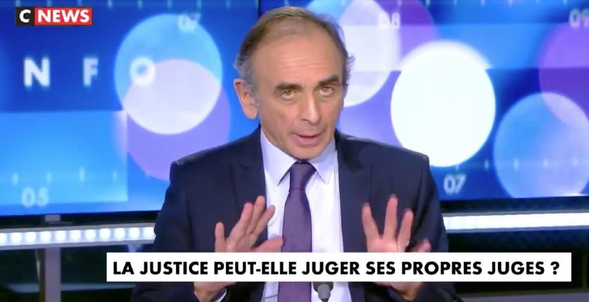 Zemmour « Il y a une alliance entre la justice et le Président qui est au fondement même du quinquennat de Macron. C'est grâce à l'action du parquet financier contre Fillon qu'il est à l'Elysée » (Vidéo)