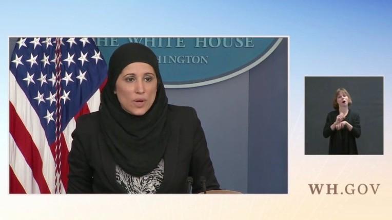 États-unis sous Biden: Une femme voilée fait le point de presse à la Maison-Blanche (Vidéo)