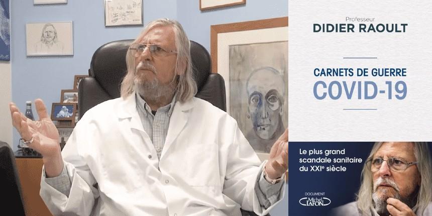 livre carnet de guerre-confinement-cest-stupide-Didier-Raoult-coronavirus-YouTube-1140×570