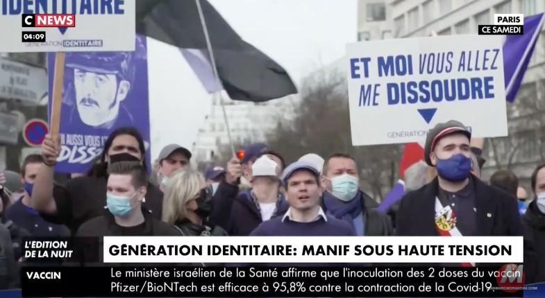Paris: près de 2.000 personnes pour protester contre la dissolution de Génération identitaire. Facebook censure les comptes de Marion Maréchal et Jordan Bardella (Vidéo)