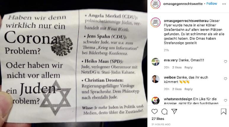 Allemagne: des tracts accusant les Juifs d'être responsables du coronavirus retrouvés dans un tramway