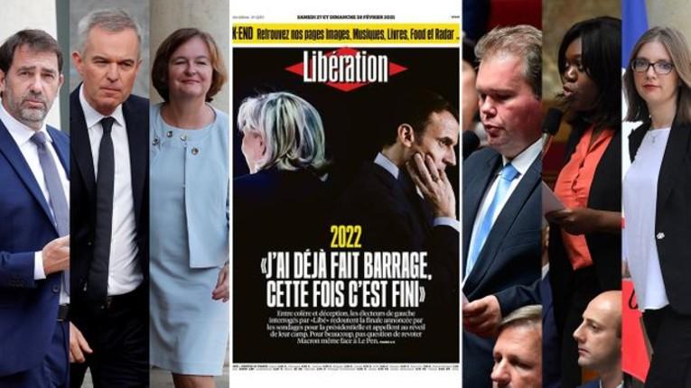 """Présidentielle 2022 : les électeurs de gauche ne feront plus de """"barrage républicain"""", la Une de Libé qui affole la Macronie"""