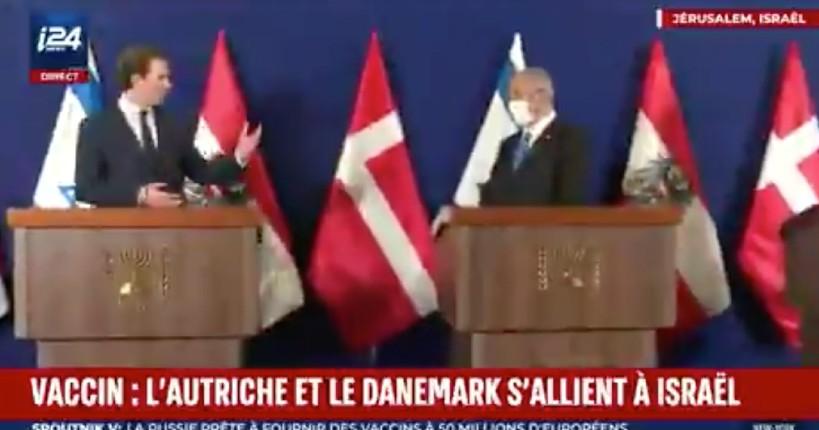 Sebastian Kurz, chancelier autrichien, à Jérusalem «Le monde regarde Israël avec admiration… Nous allons mettre en place un fonds de recherche et de développement conjoint. L'Autriche et le Danemark s'allient à Israël» (Vidéo)