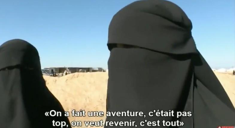 Les femmes djihadistes en Syrie veulent rentrer en France: «On a fait une aventure, c'était pas top, on veut revenir» (Vidéo)