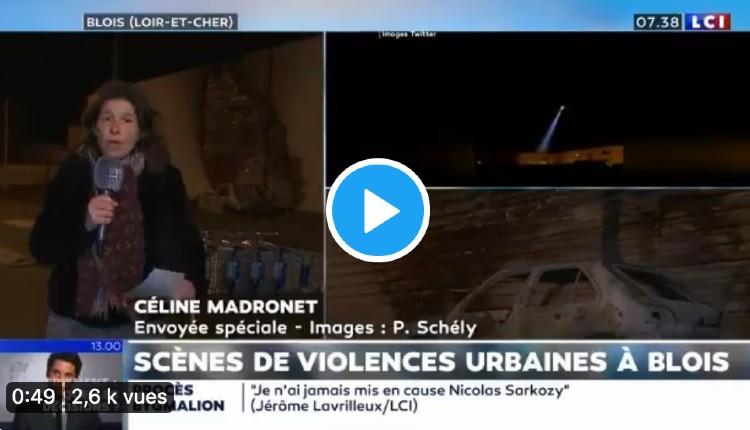 Nuit de guerre civile à Blois: 150 racailles attaquent la police, des tirs entendus, voitures brûlées, commerces pillés, le GIGN attendu en renfort (Vidéo)