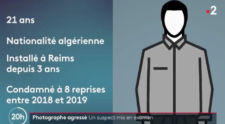Tentative de meurtre d'un journaliste à Reims : le suspect est un migrant algérien déjà condamné 8 fois entre 2018 et 2019 mais jamais expulsé…