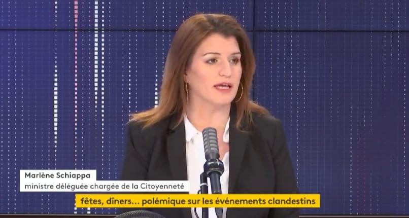 Dîners clandestins avec des ministres: Marlène Schiappa confirme «de source sûre» que Gabriel Attal a été invité à un dîner clandestin qu'il a décliné… mais le gouvernement n'a rien fait pour les empêcher (Vidéo)