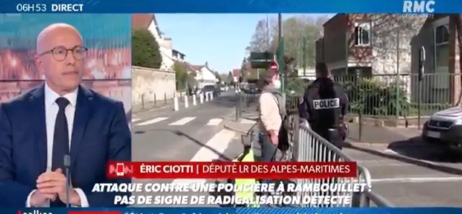Attentat islamiste de Rambouillet: Eric Ciotti «Je demande l'arrêt de toute régularisation de clandestins. Celui qui entre illégalement en France ne doit plus avoir aucun droit» (Vidéo)