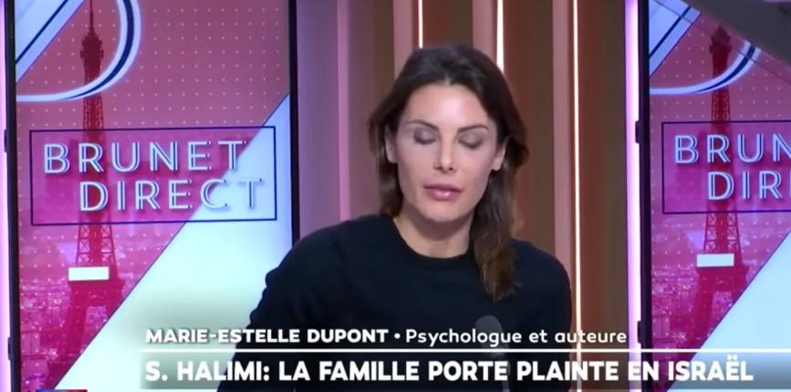 Assassinat impuni de Sarah Halimi: pour Marie-Estelle Dupont, psychologue «la justice est malade… je pense que c'est une simulation. C'est le chaos, la fin du droit !» (Vidéo)