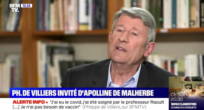 Interview décapant de Philippe de Villiers «Macron s'en fout que les Français crèvent. Il ne pense qu'à sa réélection. J'ai été soigné par le Pr Raoult…» (Vidéo)
