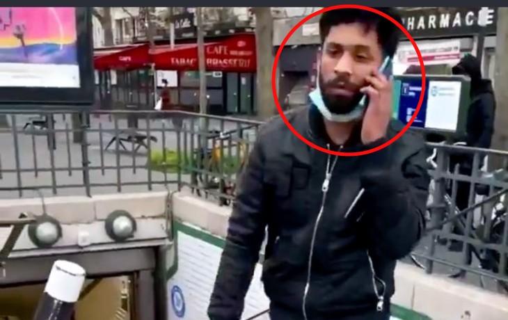 Les nouveaux barbares: un individu violente gratuitement une femme à l'entrée du métro (Vidéo)