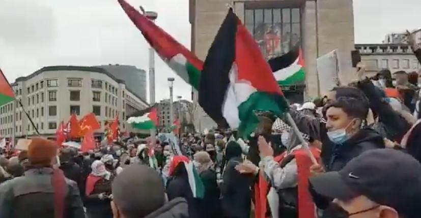 «Khaybar Khaybar ya yahoud»: le slogan des manifestants islamistes pro-palestiniens est un appel au massacre des Juifs (Vidéo)