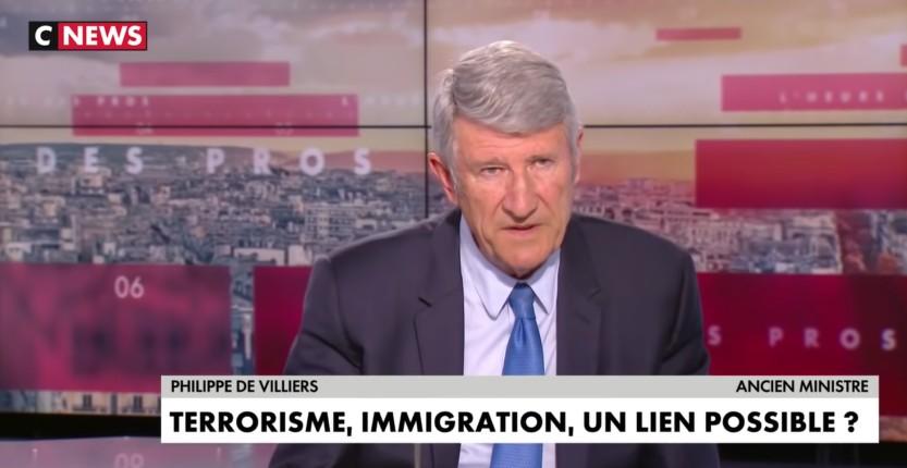 Philippe de Villiers «Ceux qui refusent de faire un lien entre l'immigration et le terrorisme ont du sang sur les mains, ce sont des collabos…» (Vidéo)