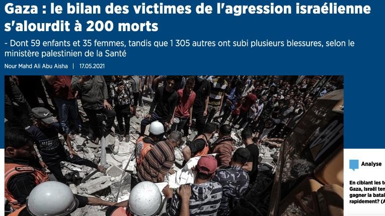 Les chiffres bidonnés de la propagande de l'AFP : Sur 200 morts, Tsahal revendique 130 terroristes éliminés, mais l'AFP prétend que 59 enfants et 35 femmes seraient morts, un chiffre totalement fantaisiste diffusé sans aucune preuve ! Et cela ne choque personne…