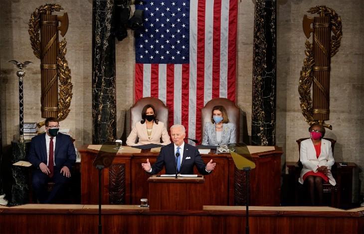 USA: pour publier un sondage bidonnée donnant 85% d'approbation du discours de Biden, Yougov/CBS interroge un panel de plus de 80% de personnes de gauche…