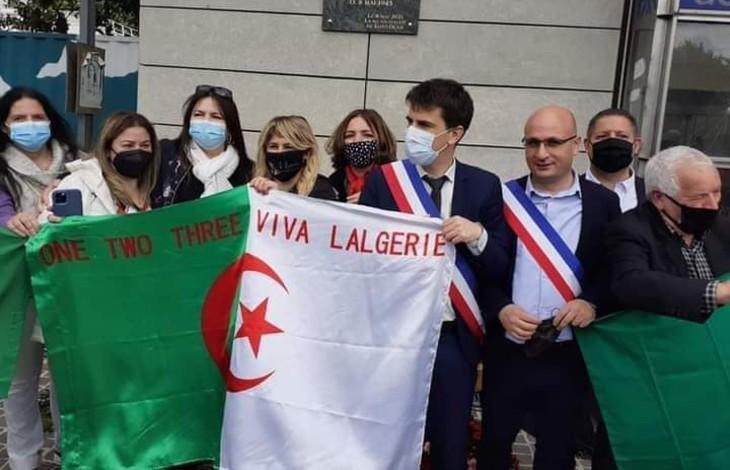 """Islamo-gauchisme: La mairie PS de Saint-Denis inaugure une plaque """"aux victimes de la répression coloniale perpétrée en Algérie"""", le maire et le président du conseil départemental posent avec des drapeaux algériens"""