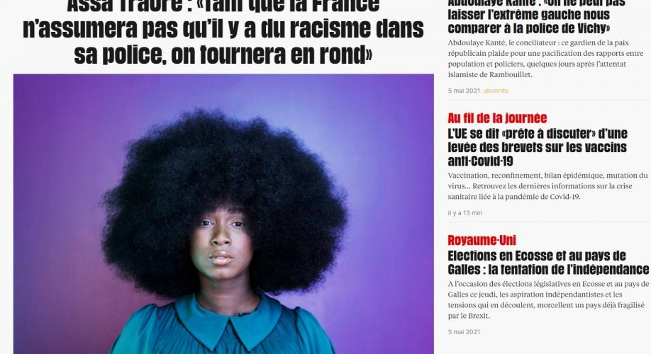 """Au lendemain de l'assassinat d'un policier à Avignon, le site internet de Libération fait sa """"une"""" sur le racisme dans la police française"""