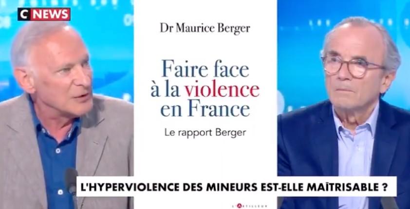 """Dr Maurice Berger : """"Là où je travaille, seulement 10% des mineurs extrêmement violents proviennent de familles françaises de souche"""" (Vidéo)"""
