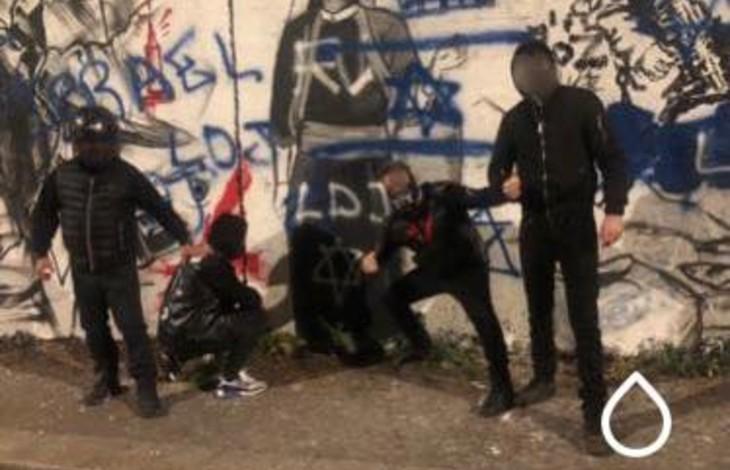 Hidalgo refuse d'enlever une fresque de soutien aux terroristes antisémites du Hamas, la Ligue de défense juive (LDJ) a repeint la fresque