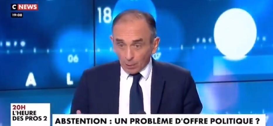 Zemmour «Ces élections régionales et départementales sont un échec pour Emmanuel Macron. Le parti En Marche n'existe pas. C'est un groupe d'aficionados de Macron» (Vidéo)
