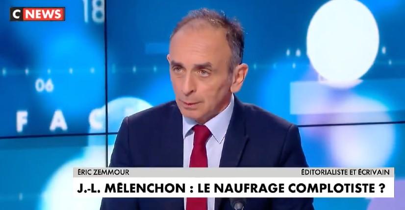 Zemmour sur Jean-Luc Mélenchon : « Il est le candidat de la France islamisée, là c'est clair » (Vidéo)