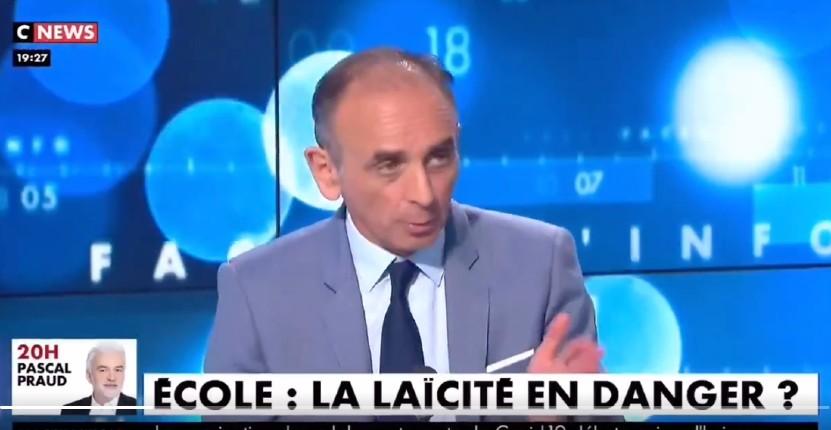 Ecole : Zemmour «Oui, la laïcité est coercitive et punitive. S'ils ne sont pas contents, ils ne sont ni obligés de rester à l'école publique ni en France. C'est comme cela qu'on vit France.» (Vidéo)
