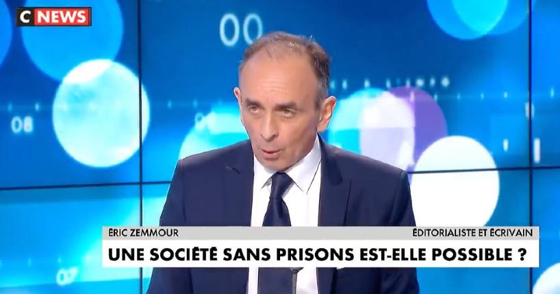 Zemmour « La prison est éducative, c'est la faiblesse de la sanction qui est criminogène, ce n'est pas la prison… Il n'y a pas un condamné qui fait la moitié de sa peine » (Vidéo)