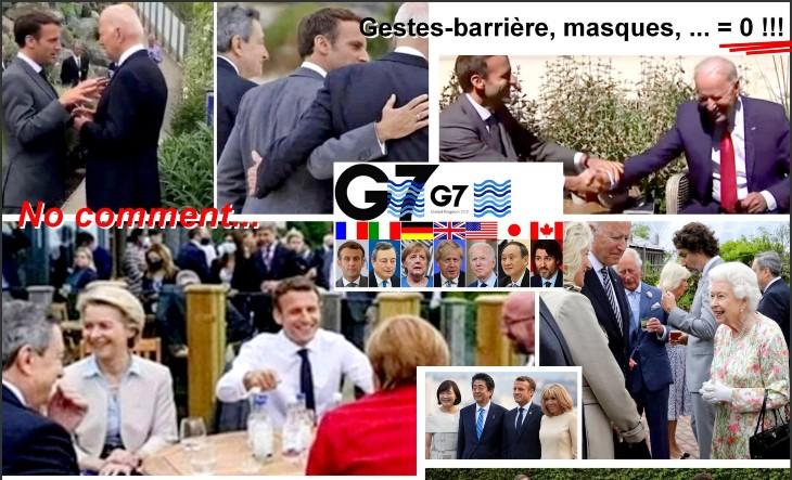 Gestes barrières et port du masque obligatoires pour le «petit peuple», mais pas pour les grands dirigeants du G7…