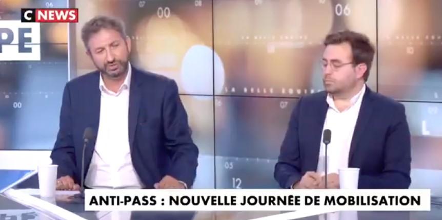 Pass sanitaire: Sur Cnews «Un conseiller du Gouvernement a promis la semaine dernière aux 20 millions de Français qui n'étaient toujours pas vaccinés de leur faire une vie de merde» (Vidéo)
