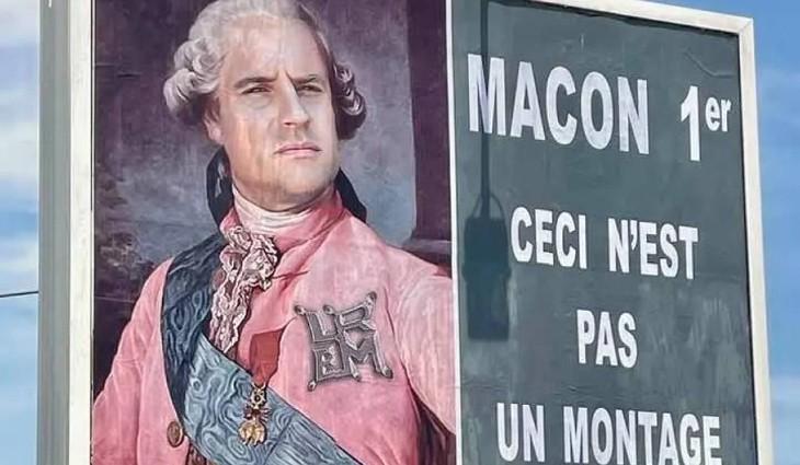 Après Macron grimé en Hitler, l'afficheur varois persiste et signe en caricaturant de nouveau le chef de l'Etat