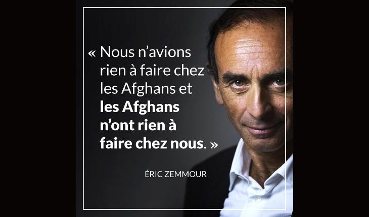 """Afghanistan : SOS Racisme appelle la France """"à un grand élan d'accueil"""" massif des migrants… Zemmour estime qu'ils n'ont rien à faire en France"""