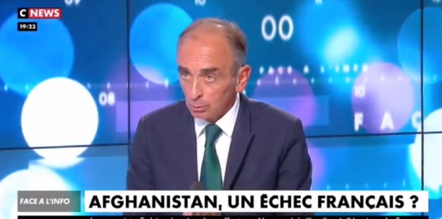 Eric Zemmour «Nous n'avons aucun devoir d'accueillir le moindre Afghan. Les Afghans sont de grands guerriers, alors s'ils ne sont pas contents du gouvernement taliban, qu'ils le combattent» (Vidéo)