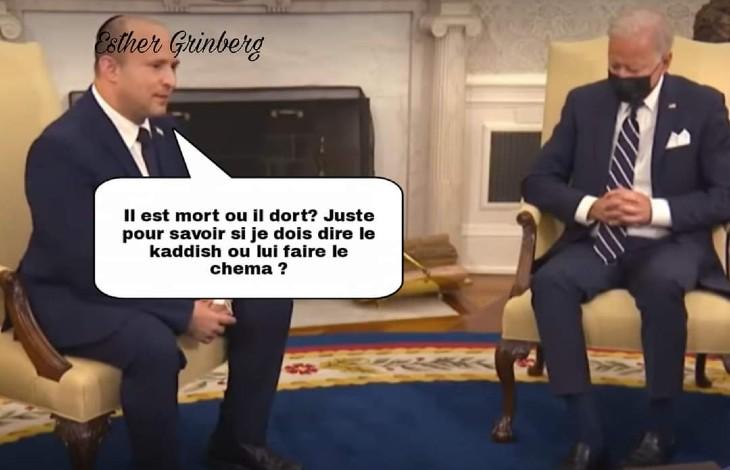 Joe Biden s'est-il endormi au milieu d'un entretien avec le Premier ministre israélien ? (Vidéo)