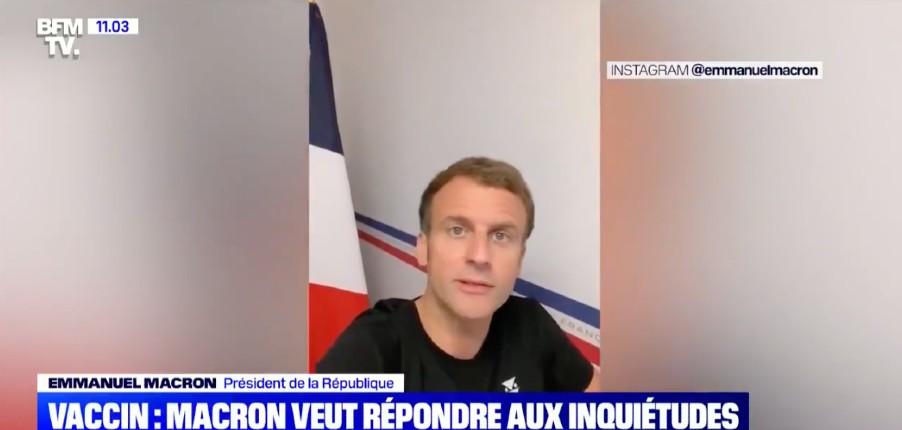 L'éminent «professeur» Macron, épidémiologiste, déguisé en Youtubeur répond directement aux questions des Français sur Instagram… (Vidéo)