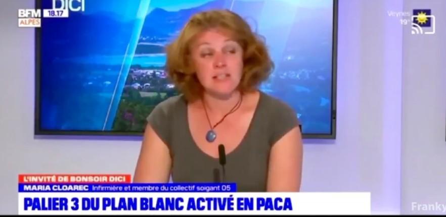 Plan blanc en PACA: Une infirmière témoigne sur BFM «On se demande où sont les patients Covid qui, soit disant, sont supposés submerger nos services. J'invite les journalistes à appeler les directions des hôpitaux» (Vidéo)