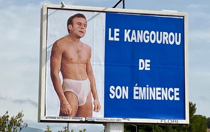 L'afficheur du Var récidive contre Macron avec une affiche «Même les australiens n'en veulent pas»