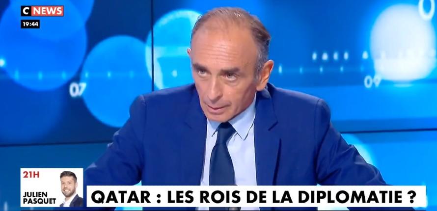 Zemmour : « Le Qatar est un des agents de l'islamisation de l'Europe et de la France, c'est absolument scandaleux qu'on leur déroule le tapis rouge » (Vidéo)